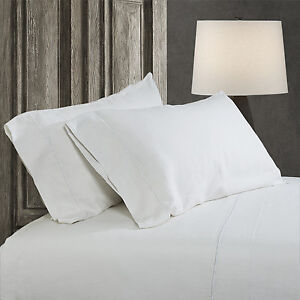 Simple-amp-Opulence-100-Stone-Washed-Linen-Embroidered-thread-Solid-2-Pillowcase