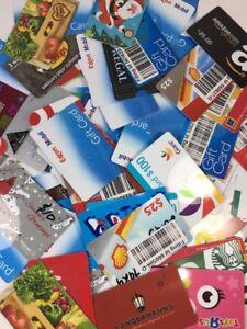 10 Gift Card Lot Blank Zero Balance Target Exxon Shell Gas Dollar