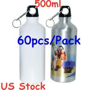 USA Stock 500ml Blank Aluminum Sports Bottle for Sublimation Printing 60pcs//Pack