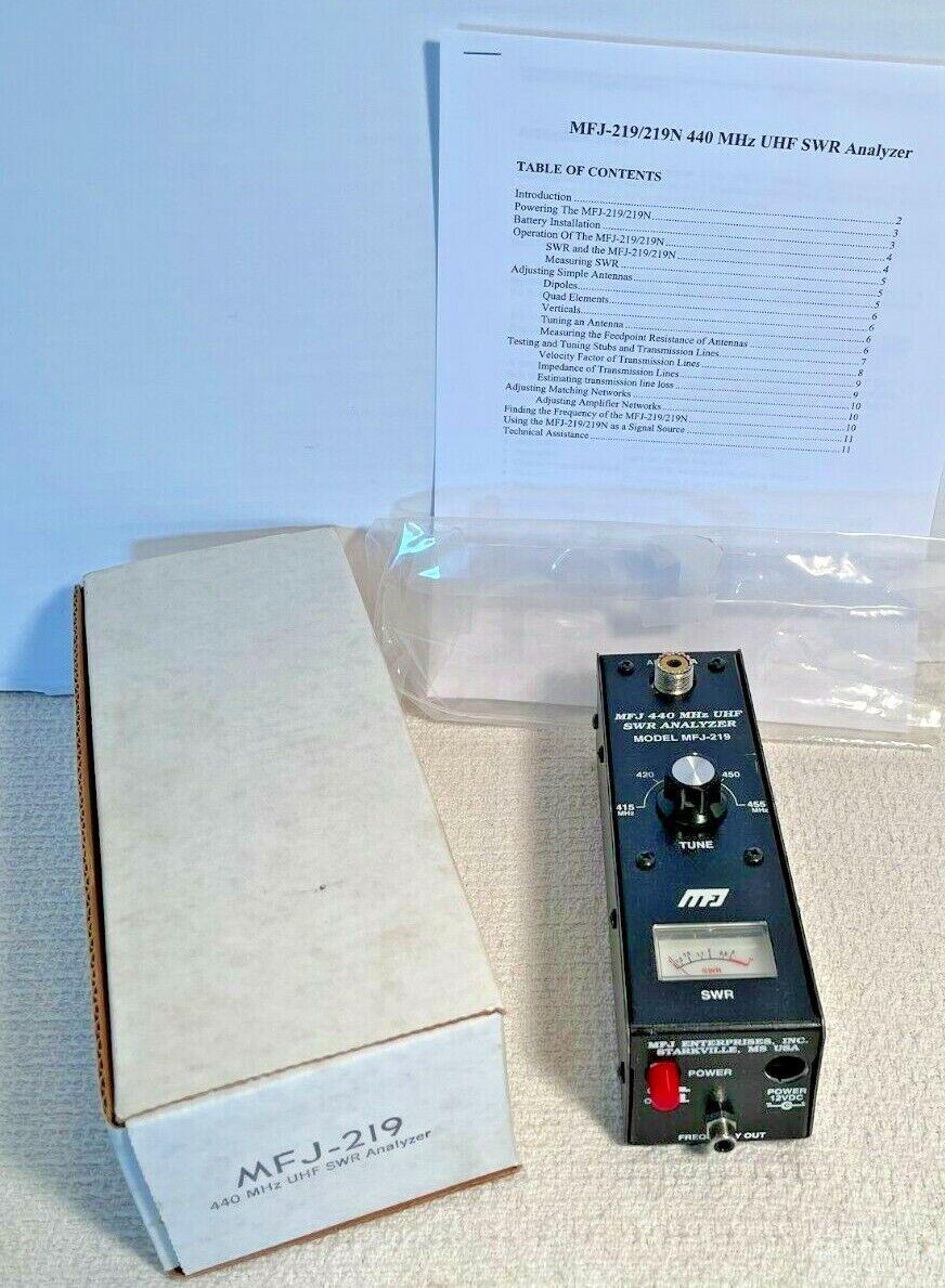 MFJ-219 440 MHz UHF SWR Analyzer. Available Now for 99.95