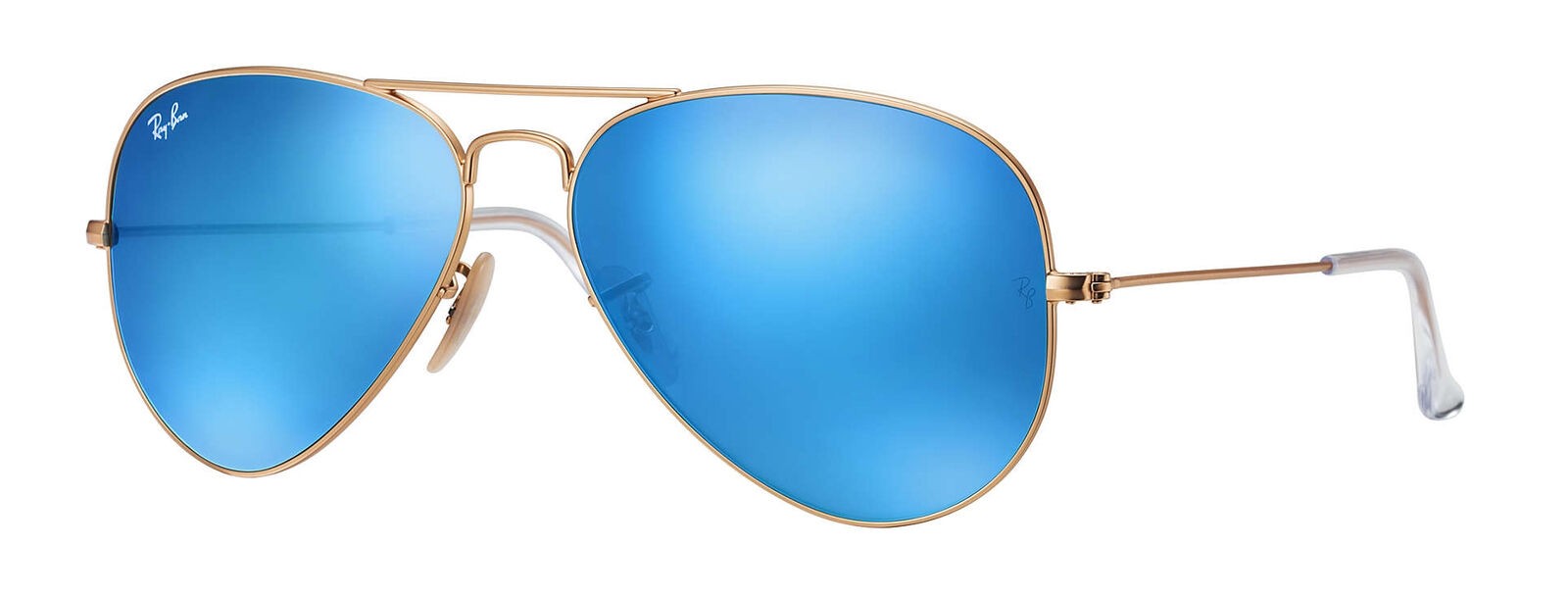 a9e2f33cd9a350 Ray-Ban RB3025 Aviator Flash Lenses Mirror Blue Sunglasses   eBay