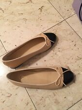 CHANEL Ballet Flats with original Box size 35.5 (worn only once)