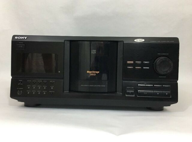 SONY CDP-CX240 COMPACT DISC PLAYER 200 CD MEGA STORAGE