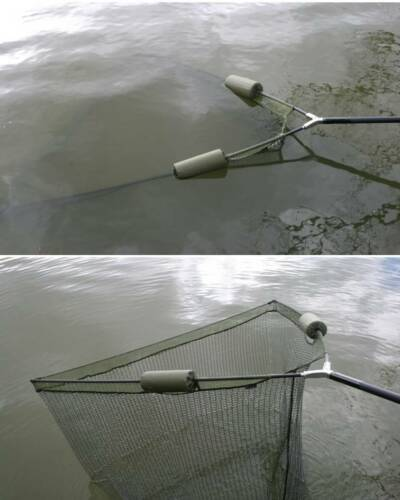 """36/"""" Inch Large Carp Pike Fishing Landing Net With dual 2 Net Floats NGT Tackle"""