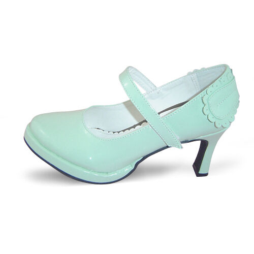 shiny mint lolita Schuhes damen-Schuhe Platform Plateau pumps Slim Fashion Damenschuhe