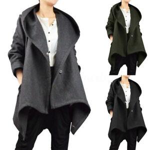 Hiver-Femme-Manteau-Ample-Manche-Longue-Chaud-a-capuche-Asymetrique-Vestes-Plus