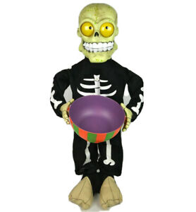 Gemmy-Skeleton-Monster-Munchies-Candy-Bowl-2-1-2-034-Ft-Motion-Sound-Activated-box