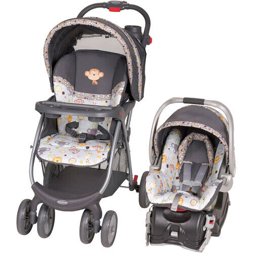 Baby Trend Stroller Car Seat Travel System Infant Girls Combo Set Pink Grey