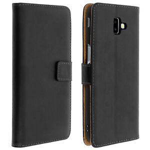 Custodia-Flip-Portafoglio-in-Pelle-Copertura-per-Samsung-Galaxy-J6-standcase-Plus-nero