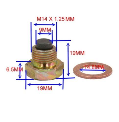 Ölablassschraube magnetisch oil drain screw JMP M14x1,25 mit Dichtring SACHS