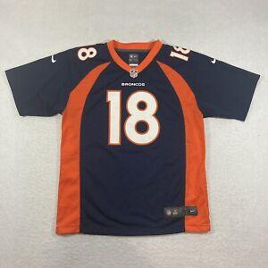 Nike Peyton Manning #18 Denver Broncos Jersey On Field Size Youth Large L 14/16