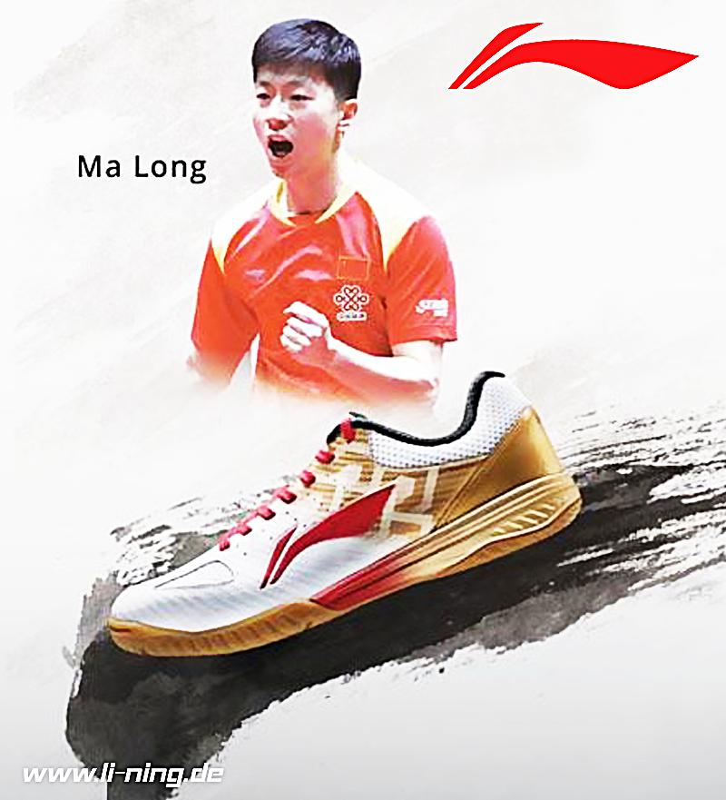 Li Ning ma Long Tt-Schuh Signature Modèle Chaussure de Tennis Table Indoor schwarz