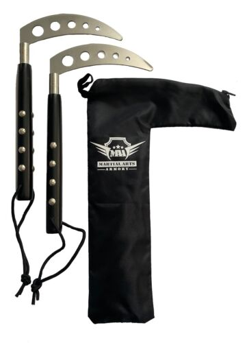 Competition Kamas with Carry Bag Case for Martial Arts Karate Training Pair