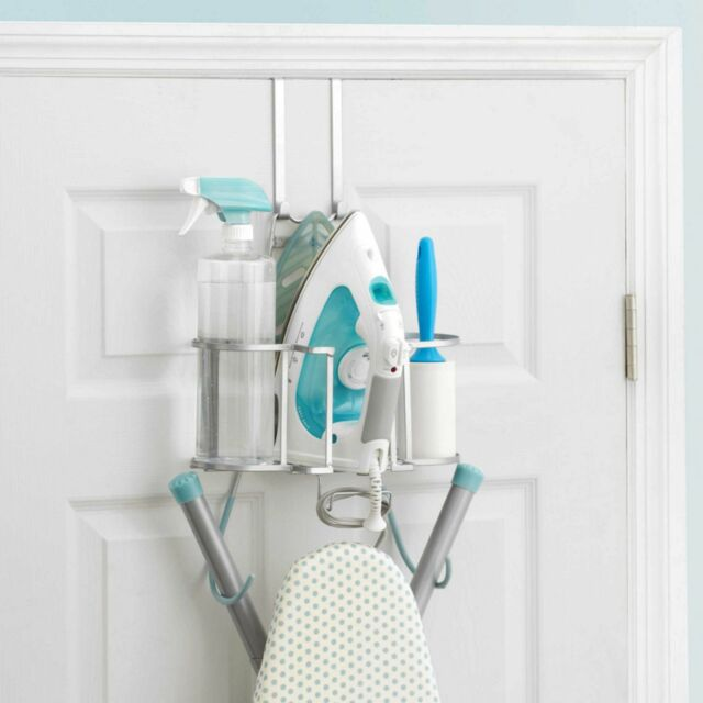 Deluxe Laundry Ironing Caddy Board Organizer Wall Mount Storage Over Door Holder