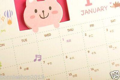 Super cute Bear 2016 Desktop Desk Table Calendar  free shipping