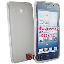 Cover Custodia Per Huawei Ascend G510 Silicone Gel Trasparente Opaco + Pellicola