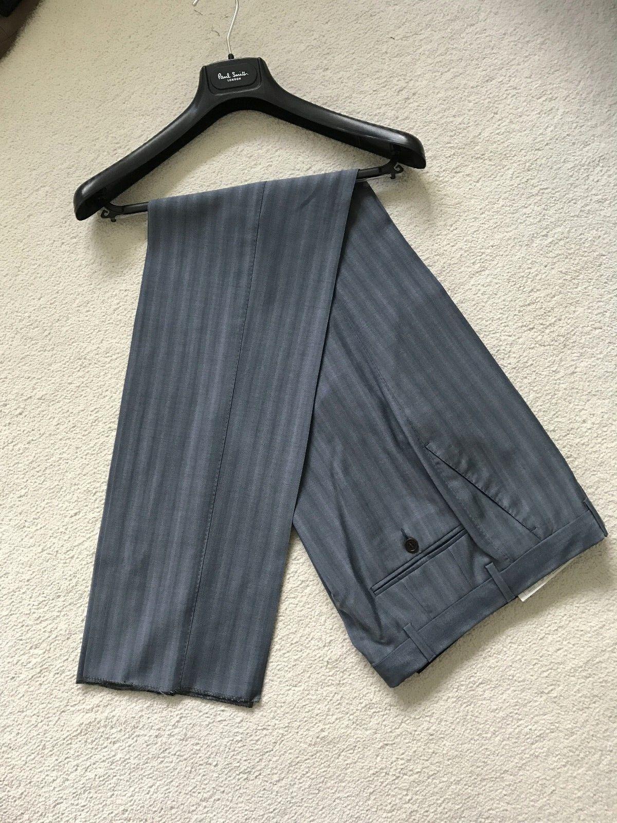 Paul Smith Men bluee Stripe Trousers - 100% Virgin Wool - 30 Waist