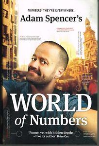 Adam Spencer's World Of Numbers Australian Mathematician  PB 2015 LIKE NEW!