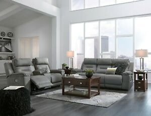 Ashley Furniture Power Reclining Sofa And Loveseat Living Room Set