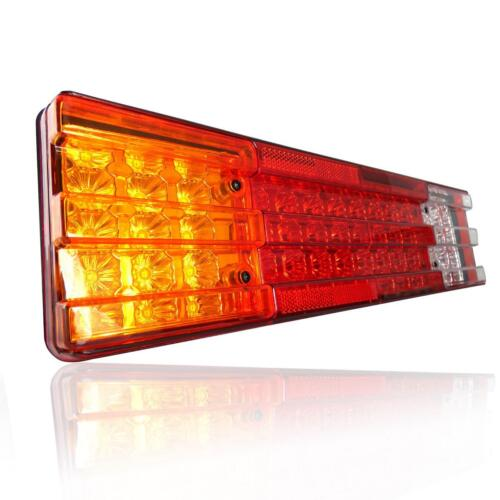 Pair 12V Rear Stop 70 LED Lights Tail Indicator Lamps Trailer Truck Tipper Van