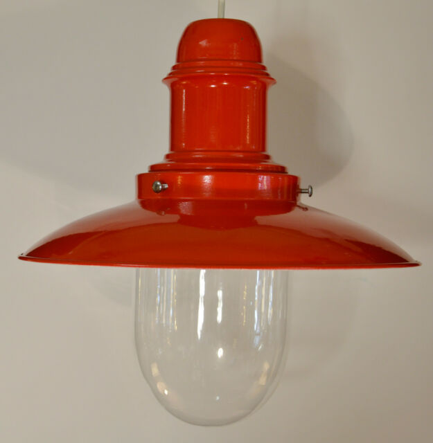 FISHERMAN PENDANT LIGHT SHADE RETRO NON ELECTRIC DUAL LAMPHOLDER 6 COLOURS