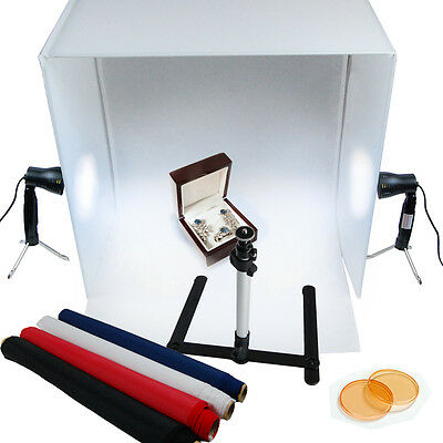 "Photography  24"" Photography Light Tent Backdrop Kit Cube Lighting In A Box"