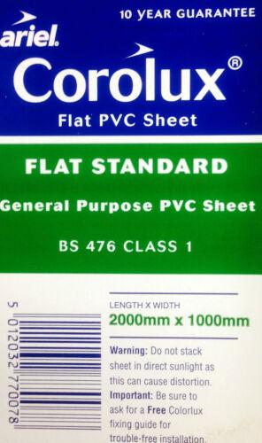 Corolux Flat PVC Clear Sheet 2000mm x 1000mm x 0.8mm Cloches Cold Frames Pots