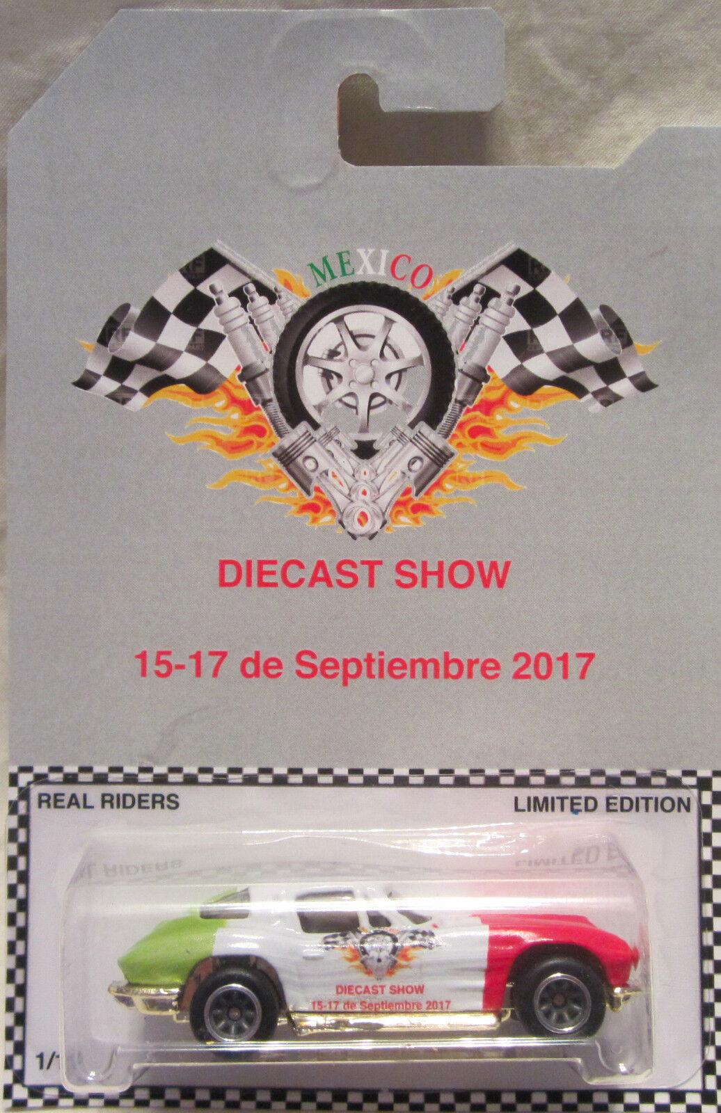 Hot Wheels Wheels Wheels Personalizado Corvette Stingris 2017 México real jinetes de Diecast show 1 10  915075