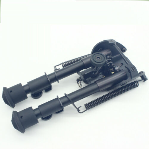 New 6-9/'/' inch Tactical Bipod Spring Loaded With Quick Retraction Button Adapter
