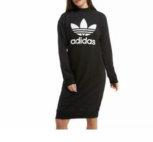 Details about Adidas Originals High Neck Trefoil Ladies Dress Size: 6