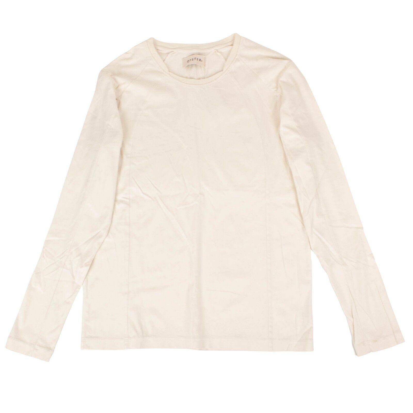 NWT OYSTER HOLDINGS Cloud Weiß BNC Long Sleeve Knit Shirt Größe L 260