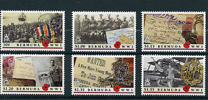 Bermuda 2016 MNH WWI The Great War 6v Set First World War I Stamps