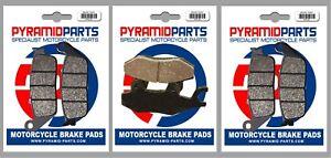 Front & Rear Brake Pads (3 Pairs) for Triumph 1200 Bonneville T120 Black 2016