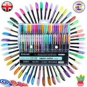48Gel-Pens-Set-Metallic-Pastel-Glitter-neon-marker-Pen-For-Adult-Colouring-Book