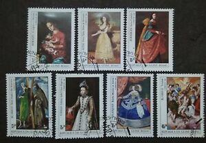 Guine-Bissau-1984-International-Stamp-Exhibition-034-Espana-039-84-034-7v-Used