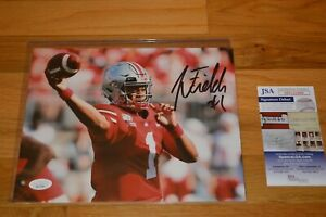 Justin Fields Signed Ohio State Buckeyes 8x10 Color Photo with James Spence COA