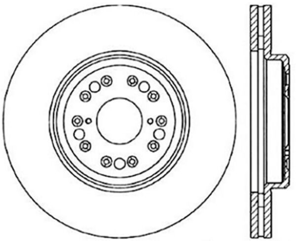 disc brake rotor c tek standard front centric 121 44107 fits 95 00 370Z Brake Calipers disc brake rotor c tek standard front centric 121 44107 fits 95 00 lexus ls400 ebay