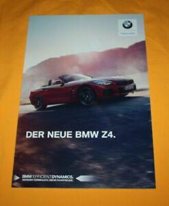 BMW-Z4-2018-CH-Prospekt-Brochure-Depliant-Prospetto-Catalog-Folder-Z-4