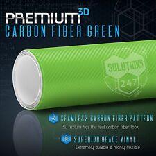 3d Green Carbon Fiber Matte Vinyl Wrap Bubble Free Air Release 60 X 60 In Roll