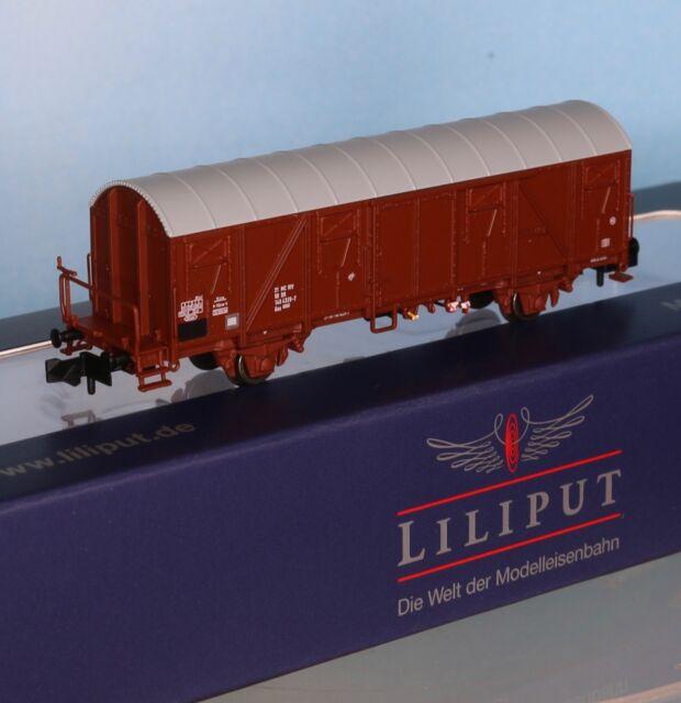 DR ged Güterw m - Spur N - Liliput 260133-1 Bremserbühne Typ Gos 1404 Ep.4