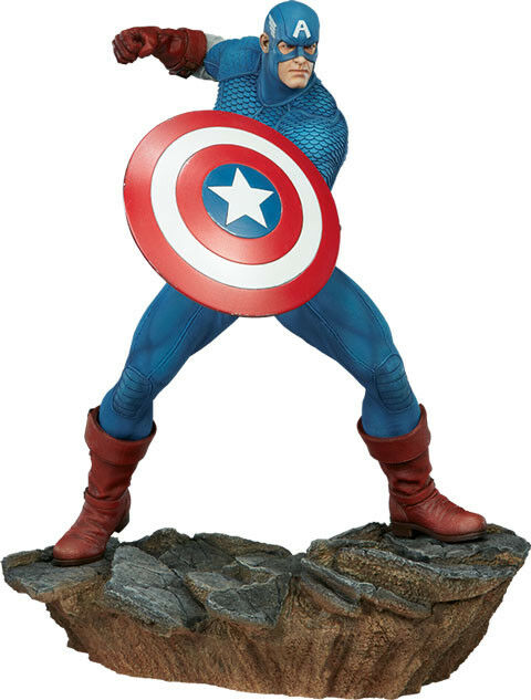 CAPTAIN AMERICA - Avengers Assemble 15  Statue (Sideshow Collectibles)  NEW
