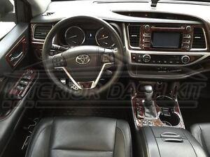2016 Toyota Highlander For Sale >> TOYOTA HIGHLANDER LE XLE SPORT INTERIOR WOOD DASH TRIM KIT SET 2017 2018 2019   eBay