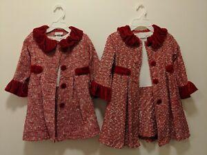 7e1826433607 2x Dress Blueberi Boulevard Tweed Coat & Dress Set Girl 5 & Toddler ...