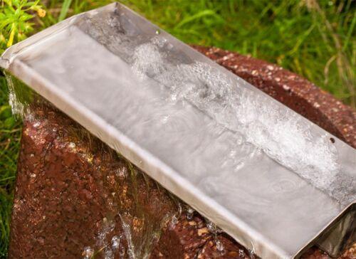 Acier Inoxydable Cascade pour ruisseau l/'eau jeu ou jardin étang gargouilles