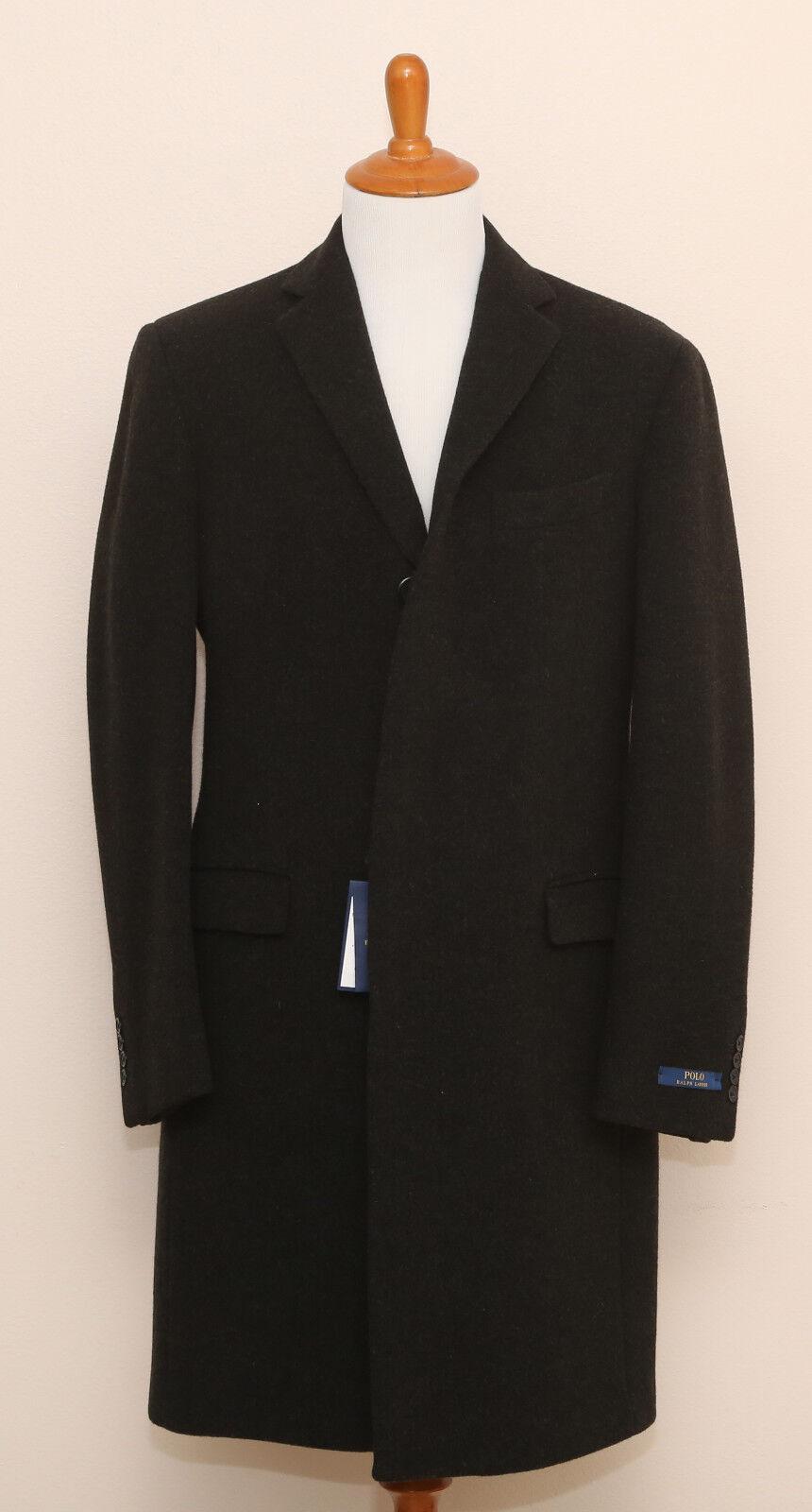 NEW Polo Ralph Lauren 100% Wool  grau Overcoat Sportcoat Topcoat 40R