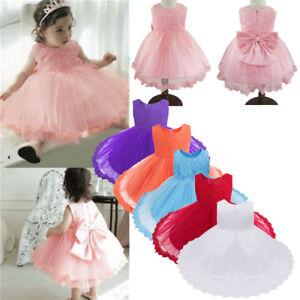 Princess-Girl-Party-Dress-Flower-Baby-Christening-Birthday-Bridesmaid-Lace-Dress