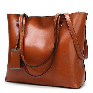 Image Is Loading Women Shoulder Bag Genuine Leather Fashion Handbags