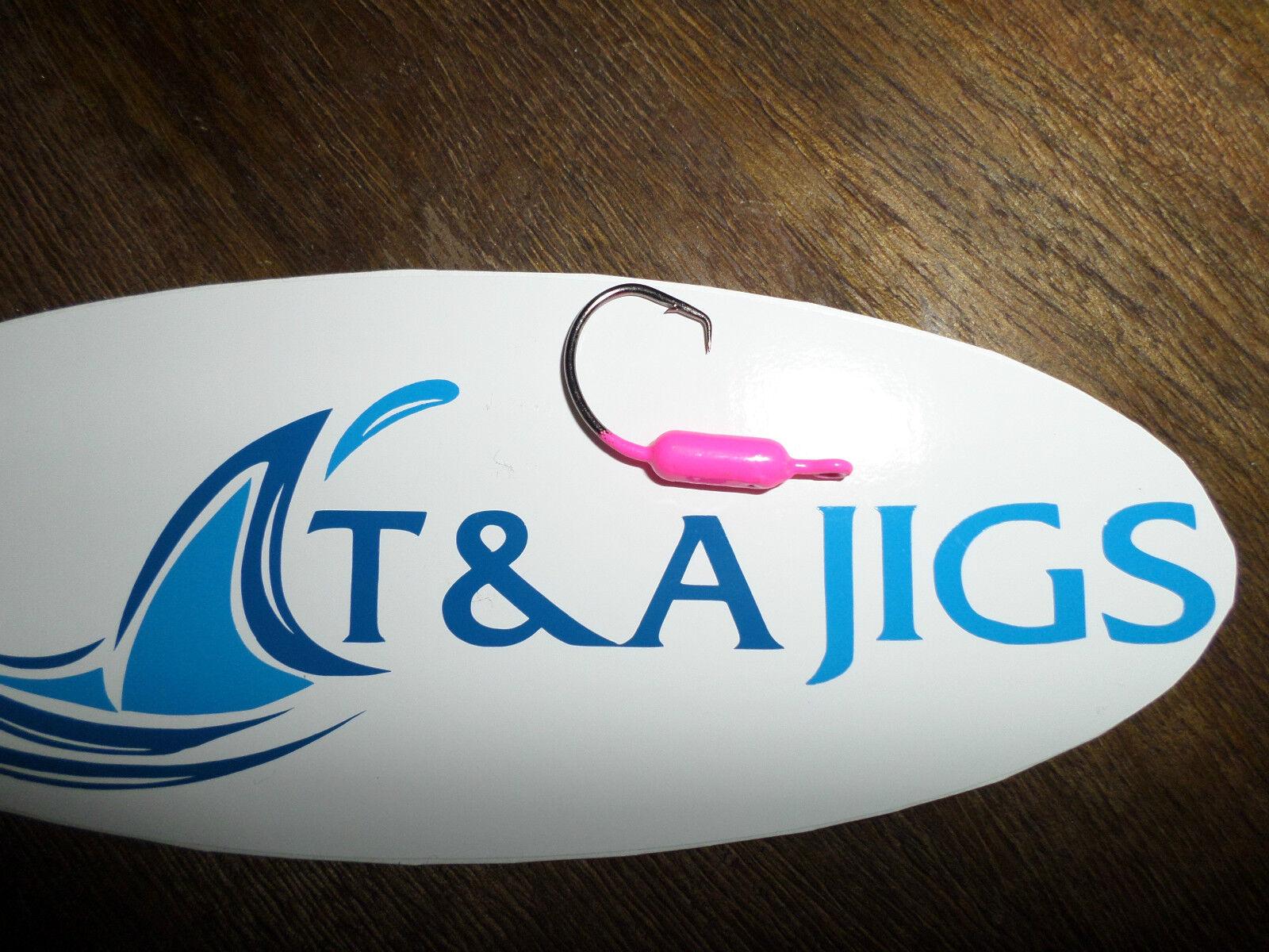 100 Gelbtail Circle Hook Jigs Größe UND Farbe CHOICE T&A JIGS Snaper Jig