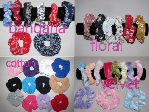 6Pcs Girl Bunny Rabbit Ear Ribbon scrunchies Headband Scarf Hair Head Band Bow