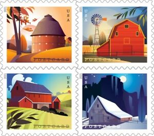 US Barns postcard rate block set (4 stamps) MNH 2021 after 1/31